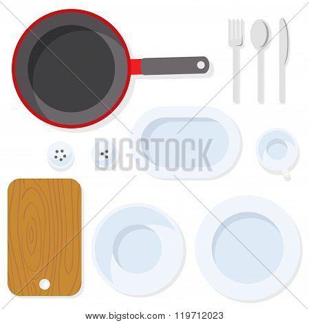 Kitchen utensil. Tableware.