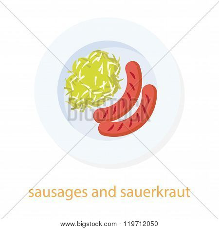 Sausages and sauerkraut.