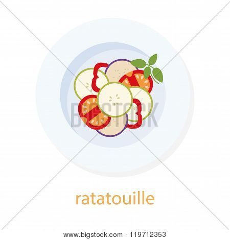 Ratatouille and basil