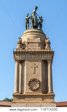 War memorial at the Union Buildings in Pretoria, South Africa