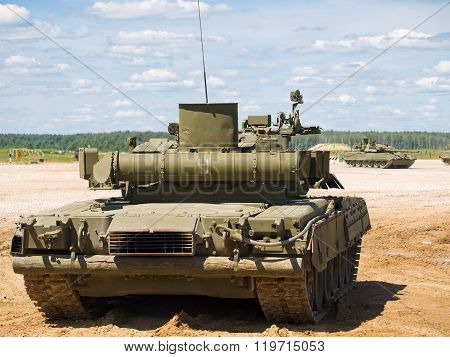 Tank T-80 At The Site (rear View)