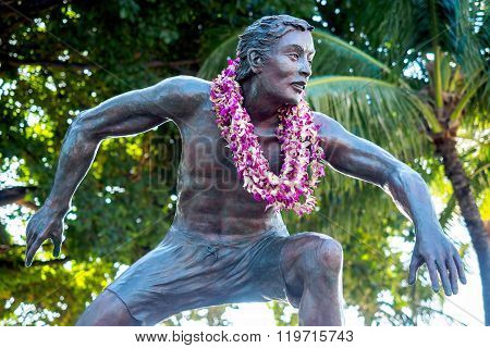 Bronze statue of Duke Kahanamoku, Waikiki Beach Area
