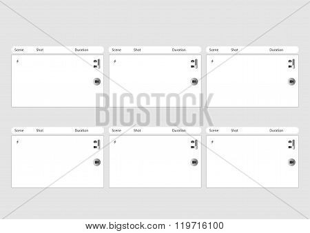Mobile Phone Camera 6 Frame Storyboard Template