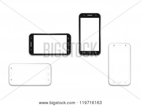 Phone Black And White Layout Template