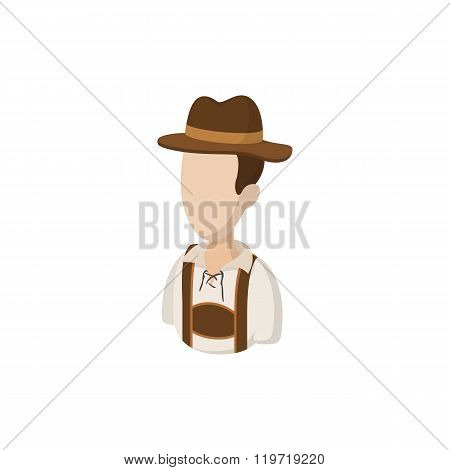 Man in traditional Bavarian costume icon