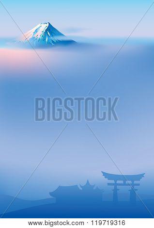 Fuji and torii
