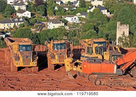 Digger and Dump Trucks