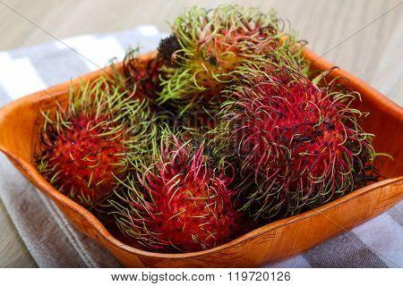 Fresh Ripe Sweet Rambutan