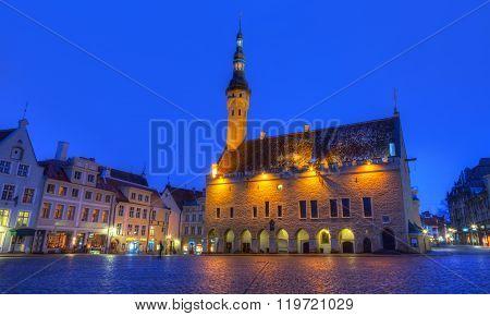 Tallinn Town Hall And Raekoja Square , Tallinn, Estonia