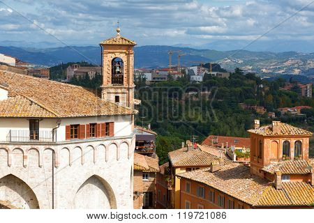 View Of The Ancient City Of Perugia. Umbria, Italy