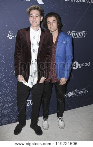 LOS ANGELES - FEB 25:  Sam Wilkinson, Kenny Holland at the 3rd Annual unite4:humanity at the Montage Hotel on February 25, 2016 in Beverly Hills, CA
