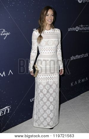 LOS ANGELES - FEB 25:  Olivia Wilde at the 3rd Annual unite4:humanity at the Montage Hotel on February 25, 2016 in Beverly Hills, CA
