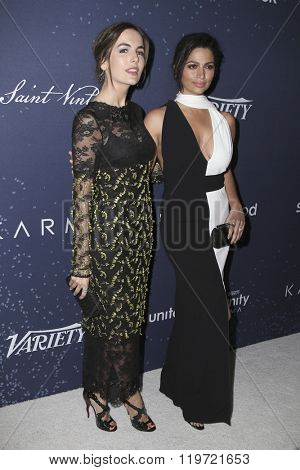 LOS ANGELES - FEB 25:  Camilla Belle, Camila Alves McConaughey at the 3rd Annual unite4:humanity at the Montage Hotel on February 25, 2016 in Beverly Hills, CA