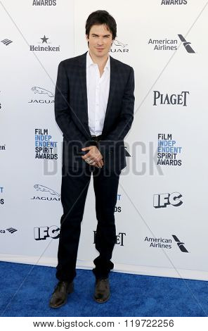Ian Somerhalder at the 2016 Film Independent Spirit Awards held at the Santa Monica Beach in Santa Monica, USA on February 27, 2016.