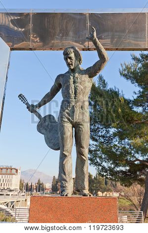 Monument To Vladimir Vysotsky In Podgorica, Montenegro