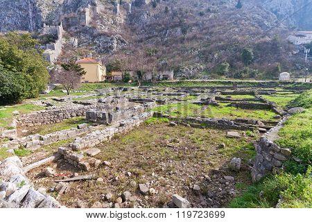 Ruins Of St Francis Monastery In Kotor, Montenegro
