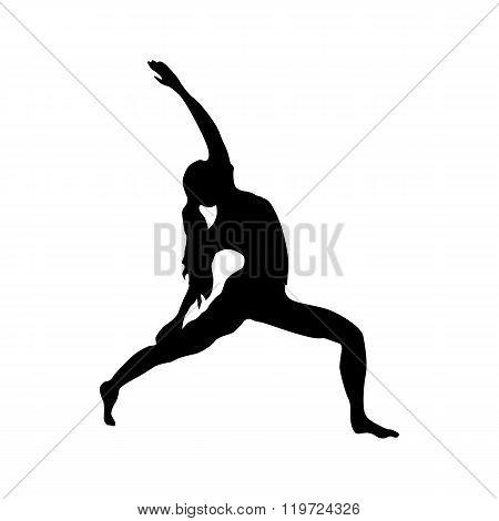 Yoga silhouette black