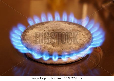 Fire Of Natural Gas
