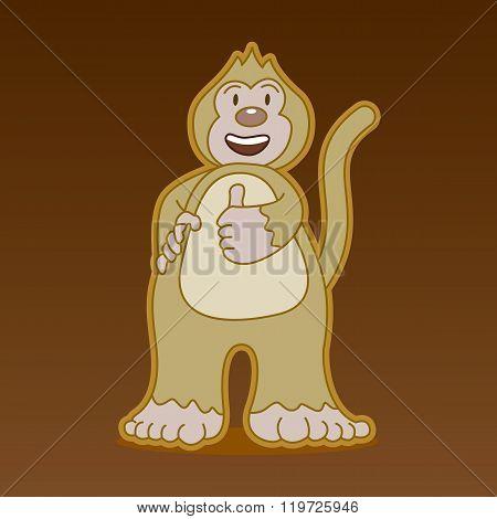 Monkey Cartoon Character