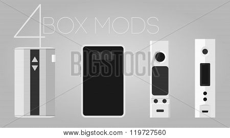 4 Box Mods Set
