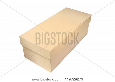 Isolated Carton Box