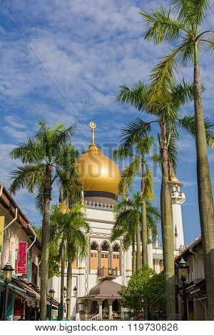 Majestic Sultan Mosque Morning
