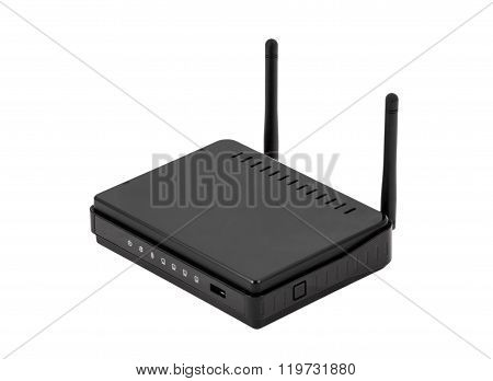 Black Wireless Internet Network Wi-fi Router