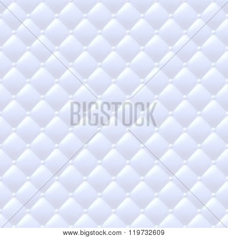 Quilted simple seamless pattern. White color.