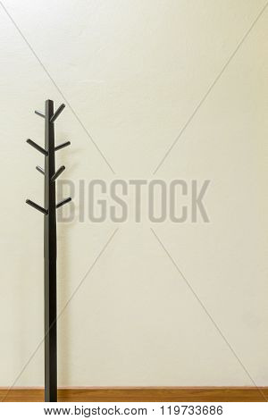 Black Wooden Coat Rack