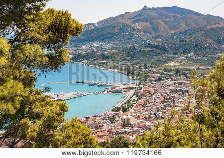 Aerial View Of Zakynthos City