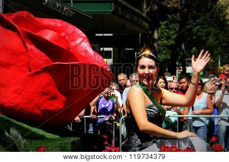 The Rose Lady In Taste of Sydney Parade
