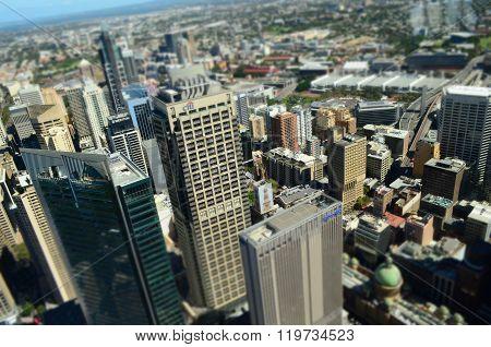 Miniature Sydney CBD - Aerial View