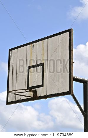 Black and white wood backboard