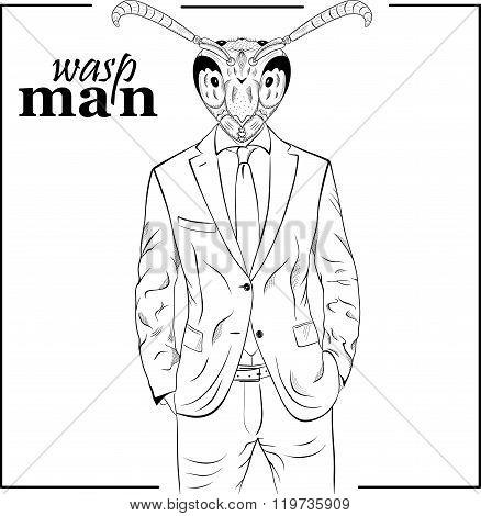 Cartoon Character Wasp