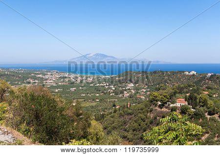 View Of Tsilivi On Zakynthos