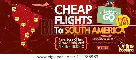 Cheap Flight To South America 1500X600 Banner.