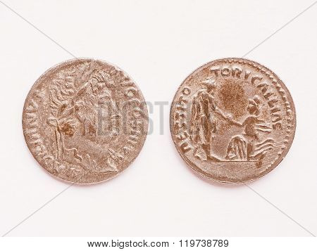 Old Roman Coin Vintage