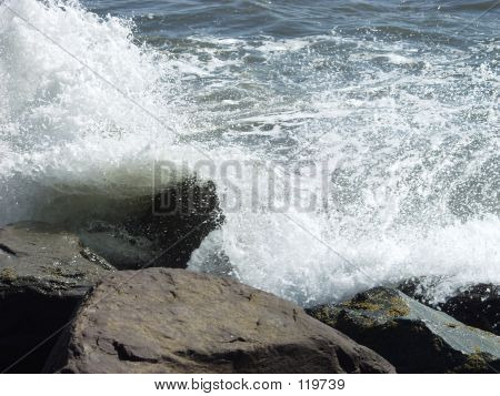 Ocean Spray On Jetty