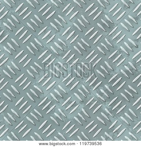 Gray Silver Metal Sheet Seamless Pattern Texture Diamond Plate