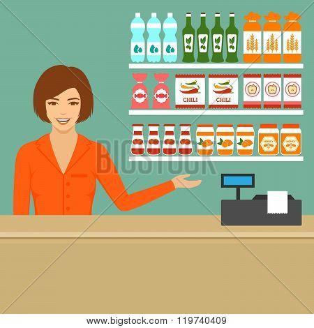 supermarket cashier,