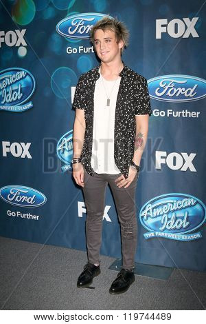 LOS ANGELES - FEB 25:  Dalton Rapattoni at the American Idol Farewell Season Finalists Party at the London Hotel on February 25, 2016 in West Hollywood, CA