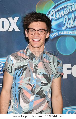 LOS ANGELES - FEB 25:  MacKenzie Bourg at the American Idol Farewell Season Finalists Party at the London Hotel on February 25, 2016 in West Hollywood, CA