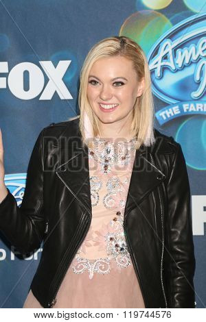 LOS ANGELES - FEB 25:  Olivia Rox at the American Idol Farewell Season Finalists Party at the London Hotel on February 25, 2016 in West Hollywood, CA