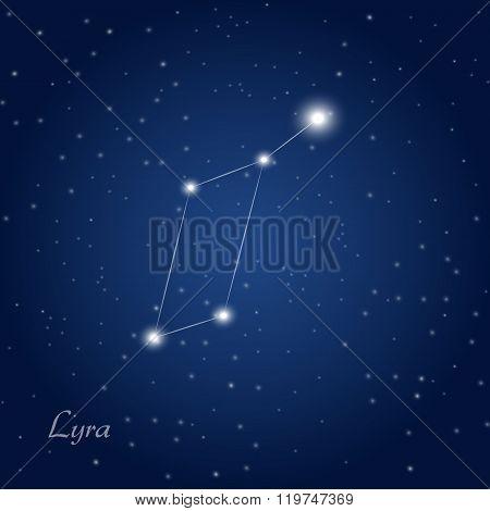 Lyra constelation star