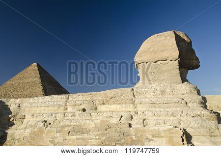 Sphinx And Great Pyramid Of Giza