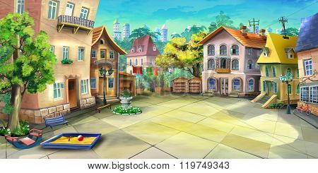Courtyard in a Summer City
