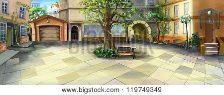 Courtyard Panorama