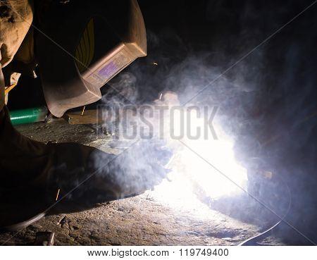 Welder Brews Metal Constructions
