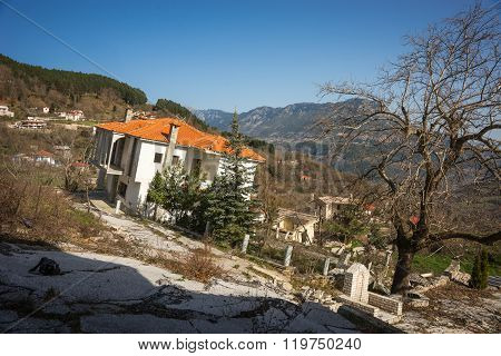 Sliding Village Ropoto After A Landslide In Greece
