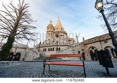 View On Fisherman Bastion. Budapest, Hungary.
